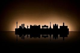 Städtesilhouetten  als Teelichthalter