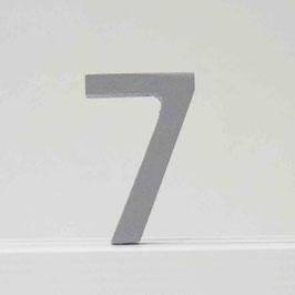 Zahl -7- grau