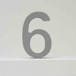 Zahl -6- grau