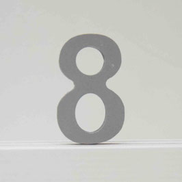Zahl -8- grau