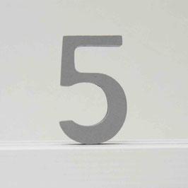 Zahl -5- grau