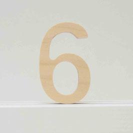 Zahl -6- natur