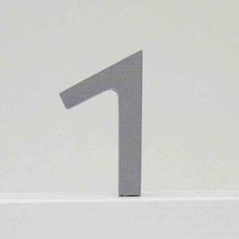 Zahl -1- grau