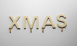 Schriftzug -XMAS-
