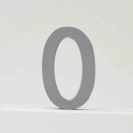 Zahl -0- grau