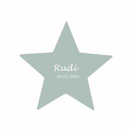 Stern - mit Name grau