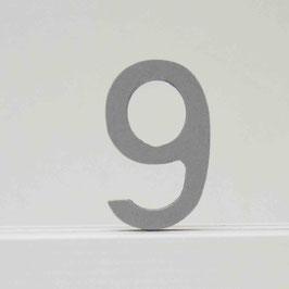 Zahl -9- grau