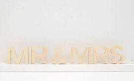 Schriftzug -MR&MRS-