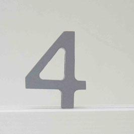Zahl -4- grau