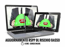 Corso AGGIORNAMENTO RSPP Datore di Lavoro - Rischio Basso