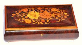 Scatola porta gioie gioielli in legno intarsiato