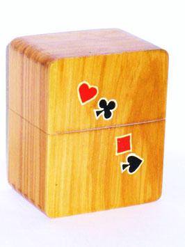 Scatola porta carte da gioco in legno di ulivo