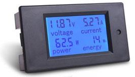 LCD volt amper meter DC 100V 20A
