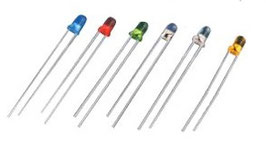LED 3mm 5 barv