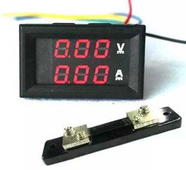 LED volt amper meter 100V / 50A
