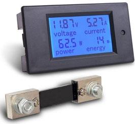 LCD volt amper meter DC 100V 100A