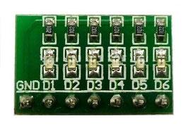 LED SMD na vezju 6 kos