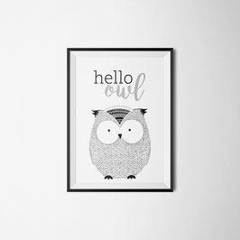 PRINT HELLO OWL