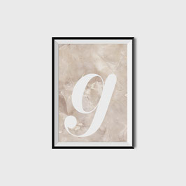 PRINT LETTER MARBLE