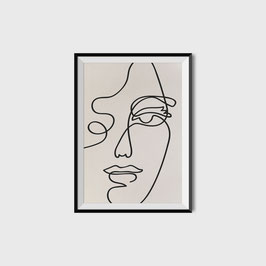 PRINT ABSTRACT FACE