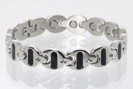 8646SZ -Magnetarmband Bicolore mit Zirkonia