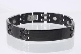 8245BL-2 - Magnetarmband schwarz mit Platte