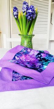 Tischläufer lila/türkis