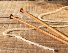 Aiguilles à tricoter en bois N°2,5 à 10