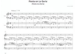 Fiesta à La Geria (harpe et piano)