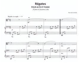 Régates pour alto et piano