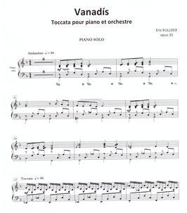 Vanadis, toccata pour piano et orchestre (Piano seul)