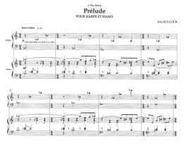 Prélude pour harpe et piano