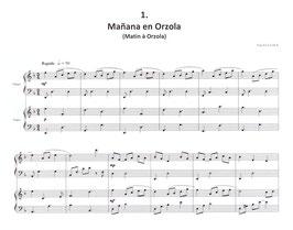 Matin à Orzola pour harpe et piano