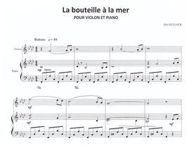La bouteille à la mer (pour violon et piano)