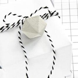 Gift Tag Concrete Diamond Set of 6