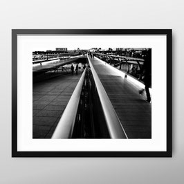 ART PRiNT  'Millennium Bridge Lines'