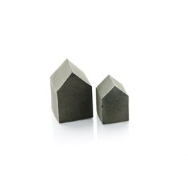 Mini Concrete House Set of Two