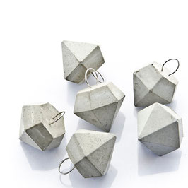 Gift Tag Concrete Diamond Set of 6