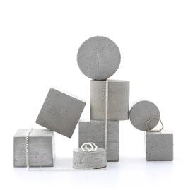 Modular Geometric Pale Concrete Still / Jewellery Display Prop Set of 8, No38