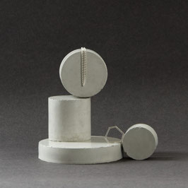Pale Grey Concrete Cylinder Display Stand Set of 4, No62