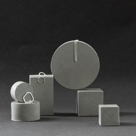 Geometric Concrete Prism Retail Display Set of 6, No73
