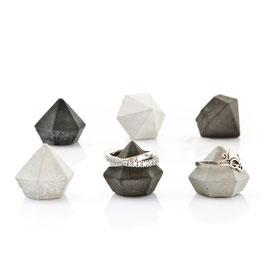 Set of Six Mini Concrete Diamonds
