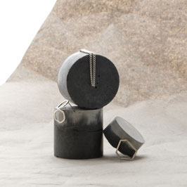 Marble Concrete Cylinder Jewellery Display Stands, Set of 3, No50