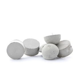 Concrete Cylinder & Half Moon Ornament Mix