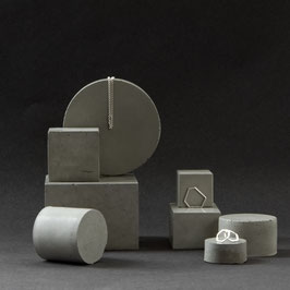 Large Geometric Concrete Display Block Set of 8, No64