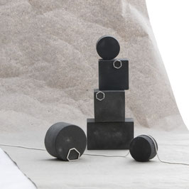Dark Grey Modular Concrete Photo Prop Set of 6, No59