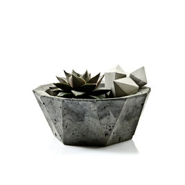 Geometric Concrete Bowl Planter