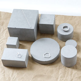 Bespoke Concrete Sculpture Set of 12 for Gemma And Emily
