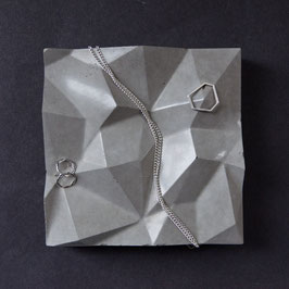 Mountain Tile, Origami Concrete Tile, Ring Dish or Jewellery Display