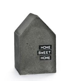 Concrete XL House Bookend Sculpture, customisable ribbon